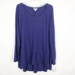 NWT Style & Co. I Long Sleeve Purple Tunic Top